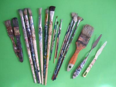Len Hend's artist brushes