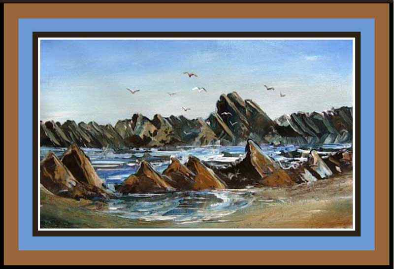 Paint rocks and ocean beginners painting lessons free for Oil painting lessons near me