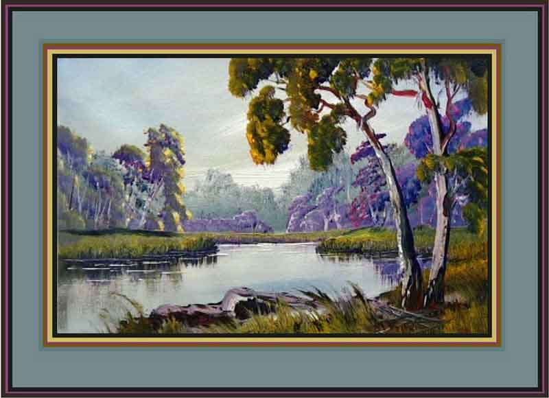 Paint Gum Trees And River Beginners Painting Lessons
