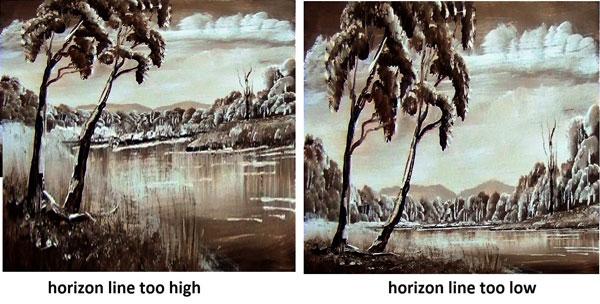 horizon in painting