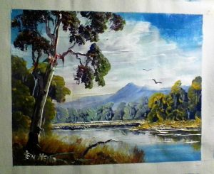 Acrylic landscape painting for sale