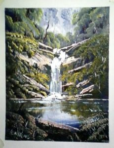 painting of waterfall for sale